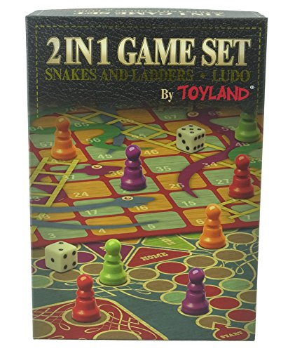 Toyland® 2 in 1 Family Brettspiel Set - Snakes & Ladders und Ludo - Traditionelle Brettspiele (Traditionelle Brettspiele)