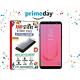 Samsung J8 Toughend Screen Protector, JUMP START™ SAMSUNG J8(New Launch 2018) Tempered Glass Screen Protectors 3D Touch 0.25mm Screen Protector Glass For Samsung Galaxy J8 Work With Most Cases 99% Touch Accurate [Easy Install]
