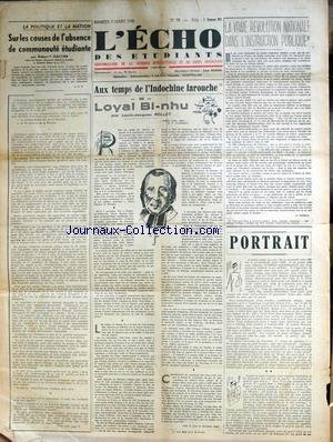 ECHO DES ETUDIANTS (L') [No 59] du 07/03/1942