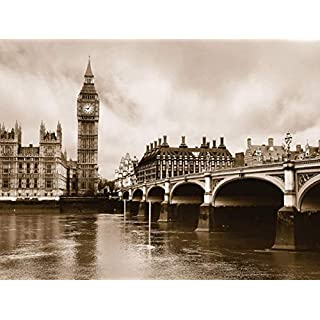 AG DESIGN London Giant Wall Poster, Paper Multi-Colour, 361 x 254 cm