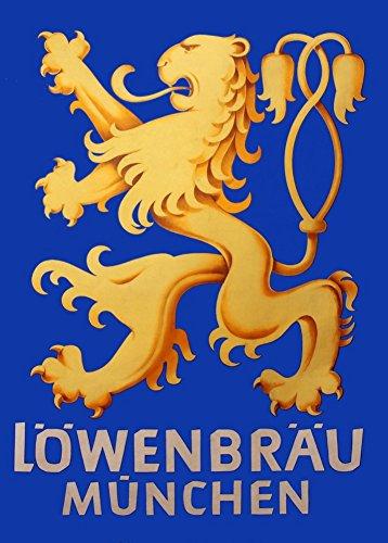 lowenbrau-munich-reproduction-vintage-poster-biere-carte-art-sur-200-g-m-a3-satin-peu-brillant