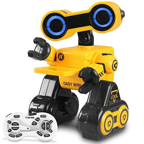 Ferngesteuertes Roboter Spielzeug für Kinder, Hbuds Intelligente Programmierung RC / Touch Sensor STEM Roboter mit LED-Licht, Funktion des Gehens, Singen, Tanzen für Unterhaltung Kindergeschenk