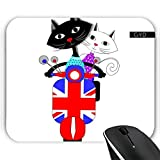 Mousepad - Retro-Roller Katzen Unterwegs by Blingiton
