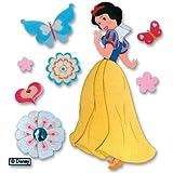 Disney dimensionale principessa adesivi-Biancaneve con farfalle