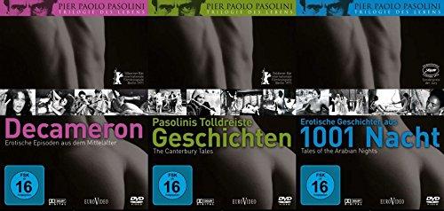 Pier Paolo Pasolini TRILOGIE DES LEBENS : Decameron + Pasolinis tolldreiste Geschichten + Erotische Geschichten aus 1001 Nacht