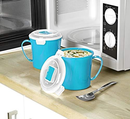 3-Pagen Microwave - Juego 2 Tazas Sopa 656 ml, plástico