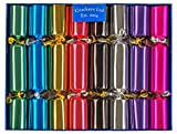 Bright Metallic Family Christmas Crackers by Crackers Ltd (Cat F1)