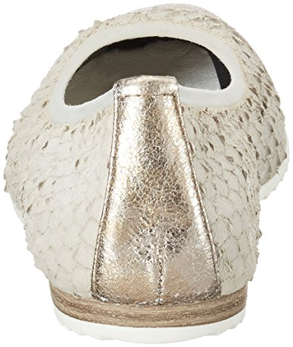 Tamaris Damen 22112 Geschlossene Ballerinas Grau (CLOUD/PLAT. 224)
