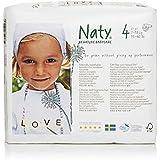 Naty by Nature Babycare Couches Écologiques Jetables Taille 4 Maxi 7-18 kg - Pack de 4 x 27 Couches (108 unites)