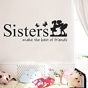 Happiness Wall Sticker Sisters Make The Best of Friends PVC Decal Home Decor DIY Art