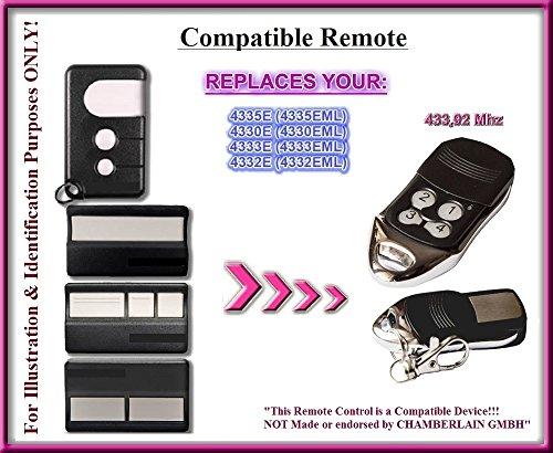MHOUSE TX4Compatible Mando a distancia transmisor 433,92mhz distancia de repuesto para Alta calidad. Ferretería