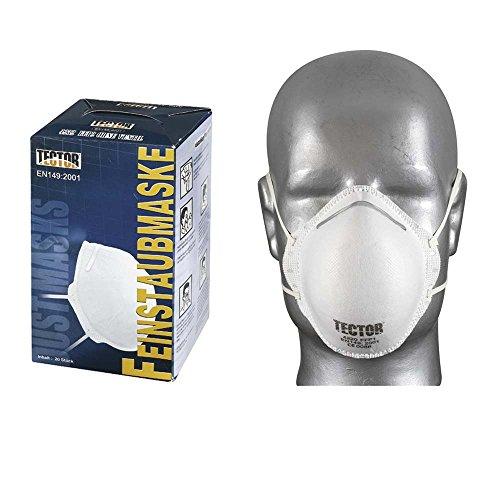 TECTOR Feinstaubmaske/Atemschutzmaske P1-20er Pack