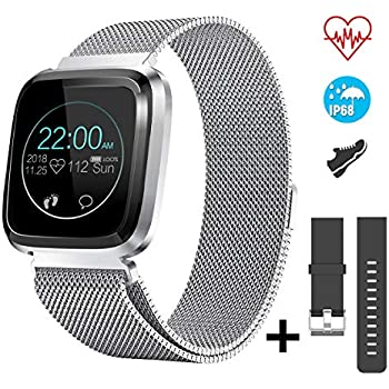 CatShin Smartwatch Android/iOS con Pulsómetro,CS08 Pulsera ...