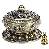 Kitchnexus incenso Censer bruciatore del Tibet Lotus lega di rame per bastone cone Coil Incenses Bronze