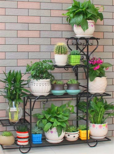 JIAOXM Flower Regal,Mehrgeschossige Indoor Home Balkon Regal,Eisen Wohnzimmer Boden Flower ständer,Regal Rack für Garten-C 88x25x95cm(35x10x37) -