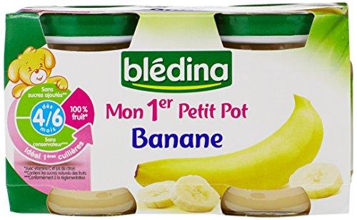 Blédina Mon Premier Petit Pot Bananes dès 4/6 mois 2 x 130 g - Lot de 6