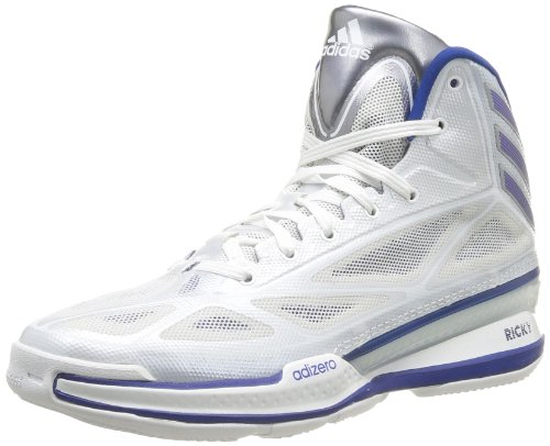adidas Adizero Crazy Light 3, Chaussures de basketball homme Blanc (Running White/Royal/Grey)