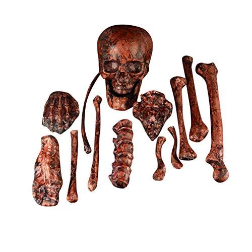 Kostüm Skelett Anatomisches - Mitlfuny Halloween coustems Kürbis Hexe Cosplay Gast Ghost Schicke Party Halloween deko,Halloween-Stützen-Partei-Dekorations-menschliches Schädel-Skelett anatomisch