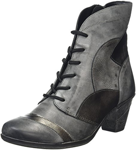 Remonte D8774, Stivali Combat Donna, Grigio (Negro/Altsilber/Asphalt/01), 38 EU
