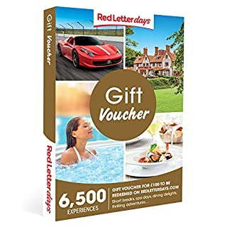 Red Letter Days £100 Gift Voucher - the gift of memories