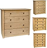 home discount chest of drawers solid pine 4 drawer bedroom furniture
