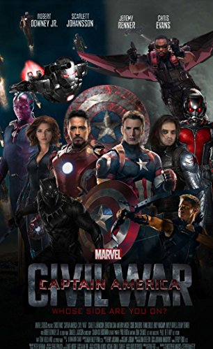Infinite Arts Marvels Captain America Civil War Movie (24inch x 39inch/60cm x 98cm) Silk Print Poster - Silk Printing - B8113F