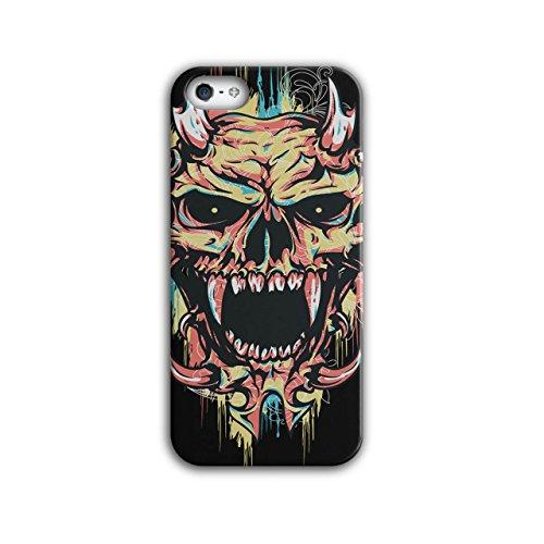 Wellcoda Satan Teufel Unheimlich Schädel Hülle für iPhone 5 / 5S Dämon Rutschfeste Hülle - Slim Fit, komfortabler Griff, ()