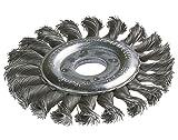 Wolfcraft B2148 - Spazzola a disco a mazzetti ritorti per smerigliatrice, ø esterno 11,5 cm, ø interno 2,2 cm