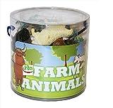Unibos Animals Figure Plastic Wild Farm Yard Animals Model Figure Kids Toys Both Indoor/Outdoor Play Brand New