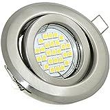 Set LED Einbaustrahler 5Watt, 450Lumen, 230Volt GU10, schwenkbar, inklusive Leuchtmittelfassung