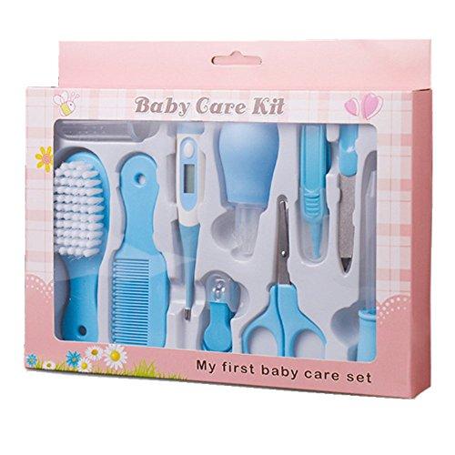 Babypflege Set für Babys,10 Stück (Blau)