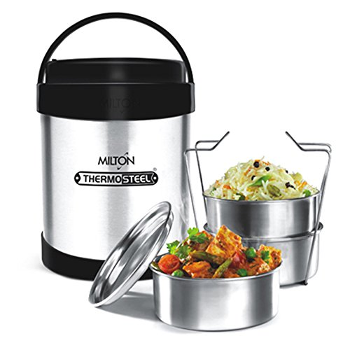 f3afd6192b72 Milton Thermosteel Royal Insulated Tiffin Box, Steelplain Buy Milton  Thermosteel Royal Insulated Tiffin Box, Steelplain from Amazon.in!