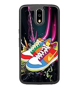 Multicoloured Shoes 2D Hard Polycarbonate Designer Back Case Cover for Motorola Moto G4