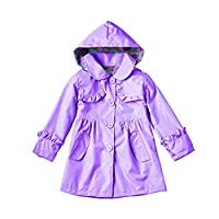 Dehutin New Girls Jacket Colorful Waterproof And Windproof Coat Raincoat