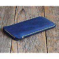 Azul Funda De Cuero Para Samsung Galaxy Note8 Caja De Funda Bolsa. Cosido a mano, Note 8