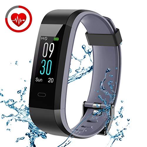 CHEREEKI Fitness Armband, Fitness Tracker mit Pulsmesser IP68 Wasserdicht