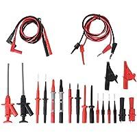 Profesional Multímetro Cable De Prueba Kit De Accesorios Incluye Extensiones De Plomo Prueba Sondas Pinzas Cocodrilo,Cable De Prueba De Sonda De Multimetro