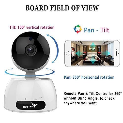 Telecamera di Sorveglianza IP camera wifi Rottay 720P HD wireless,Obiettivi Ruotabile, Audio Bidirezionale, Modalit¨¤ Notturna a Infrarossi, Controllo Remoto, Compatibile con iOS e Android e PC - 6