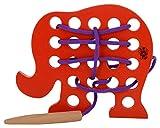 Skillofun Wooden Sewing Toy Elephant, Mu...