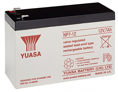 YUASA Recambio de Batería para SAI Equipos de limpieza 12V 7Ah, 12V, 7000mAh/84Wh, Lead-Acid Batería de alta calidad libre de mantenimiento, para suministro de energía en la industria, para sistemas de alimentación ininterrumpida (SAI), así como para...