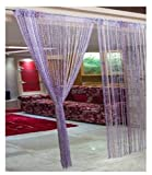 RAMCHA PURPLE STRING CURTAIN WITH SILVER...