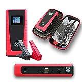 Indigi® kleinste leichteste Leistungsstark Portable Power Bank Station KFZ Jump Starter (Silber)