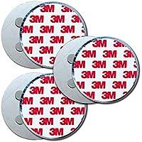 Antiadherente Plus Soporte Magnético Detector de Humo Universal magnético Fijación Redondo Soporte magnético Autoadhesivo Almohadillas Adhesivas con 4imanes