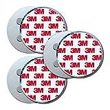 HaftPlus - Magnethalter für Rauchmelder 3 Stück, Universal Magnetbefestigung selbstklebend für alle Brandmelder Größen, Magnethalterung mit 4 starken Neodym Magneten - Ø 70mm