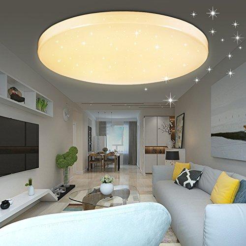 VINGO® LED 16W Deckenleuchte Starlight Rund Esszimmer Deckenlampe ,warmweiß Farbe