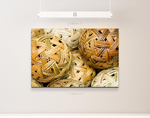 Abstraktes Bild – geflochtene Korbbälle