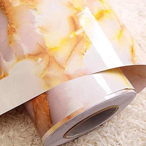 fenjinsheng Fliesenaufkleber 60X300Cm Selbstklebende Tapete Granit Marmor Effekt Kontakt Wasserdicht Dickes PVC Tapeten Peel Stick Rolling Paper -
