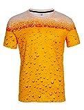 Loveternal Unisex Bier T-Shirt 3D Muster Gedruckt Casual Grafik Kurzarm Tops Tees M