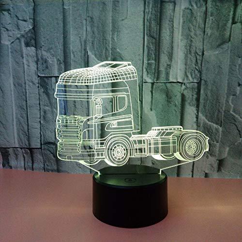 Neue Kreative Lkw 3d Nachtlicht Acryl Usb 3d Lampe Luminaria De Mesa Power Led Usb Leuchten Kinder Lampe