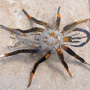 Spinne Vogelspinne Tier Metall Stahl Rost Edelrost Gartendekoration (A)